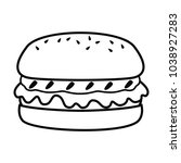 fast food line simle icon | Shutterstock .eps vector #1038927283