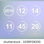 days hours minutes seconds ... | Shutterstock . vector #1038928330