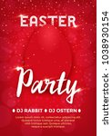 easter party poster   same... | Shutterstock .eps vector #1038930154