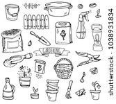 hand drawn doodle set of... | Shutterstock .eps vector #1038931834