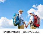 back view portrait of active... | Shutterstock . vector #1038932668