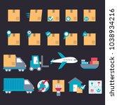set of icons transport...   Shutterstock .eps vector #1038934216