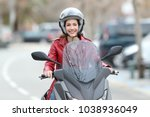 front view portrait of a happy... | Shutterstock . vector #1038936049
