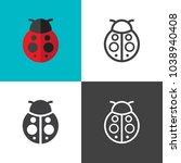 ladybug icons 2018   Shutterstock .eps vector #1038940408