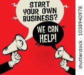 megaphone hand business concept ...   Shutterstock .eps vector #1038940978
