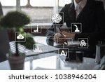 microchip  cpu  processor ... | Shutterstock . vector #1038946204