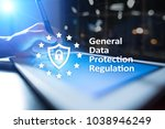 gdpr. data protection... | Shutterstock . vector #1038946249