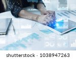 business process and strategy... | Shutterstock . vector #1038947263