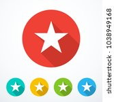set of colored star icons.... | Shutterstock .eps vector #1038949168