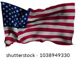 usa flag with fabric texture.... | Shutterstock . vector #1038949330
