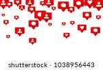 notifications with likes ... | Shutterstock .eps vector #1038956443