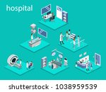 isometric 3d vector... | Shutterstock .eps vector #1038959539