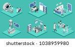 isometric 3d vector... | Shutterstock .eps vector #1038959980