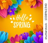 spring sale background with... | Shutterstock .eps vector #1038961540