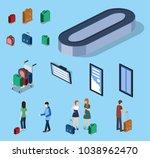 isometric 3d vector... | Shutterstock .eps vector #1038962470