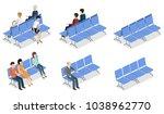 isometric 3d vector... | Shutterstock .eps vector #1038962770