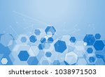medical network isolated on... | Shutterstock .eps vector #1038971503