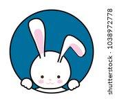 silhouette rabbit  vector... | Shutterstock .eps vector #1038972778