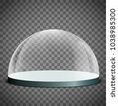 blank glass dome on a... | Shutterstock .eps vector #1038985300