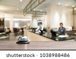 hotel service bell on a table... | Shutterstock . vector #1038988486