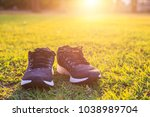 close up new pairs of black... | Shutterstock . vector #1038989704