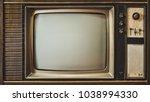 close up old tv screen. vintage ... | Shutterstock . vector #1038994330