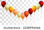 helium balloons realistic... | Shutterstock .eps vector #1038996466