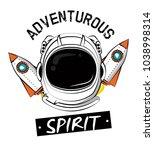 astronaut adventure spirit... | Shutterstock .eps vector #1038998314