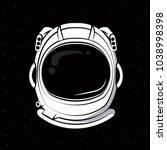 astronaut helmet print for... | Shutterstock .eps vector #1038998398