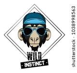 hipster wild animal print for t ...   Shutterstock .eps vector #1038998563