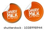 dairy milk stickers | Shutterstock .eps vector #1038998944