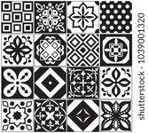 vintage black and white... | Shutterstock .eps vector #1039001320