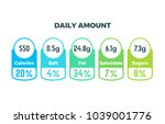 nutrition facts vector package... | Shutterstock .eps vector #1039001776
