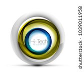 digital techno sphere web... | Shutterstock .eps vector #1039011958