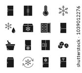 refrigerator silhouettes icons... | Shutterstock .eps vector #1039012276