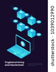cryptocurrency and blockchain... | Shutterstock .eps vector #1039012990