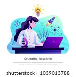 scientific research abstract... | Shutterstock .eps vector #1039013788