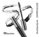mascara and brush stroke vector ... | Shutterstock .eps vector #1039016128