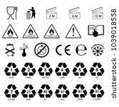 packaging information label... | Shutterstock .eps vector #1039018558