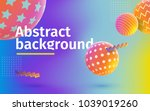 multicolored abstract vector... | Shutterstock .eps vector #1039019260