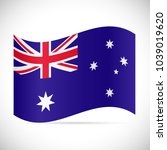 illustration of the flag of... | Shutterstock .eps vector #1039019620