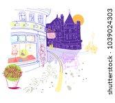 street of old city.vector...   Shutterstock .eps vector #1039024303