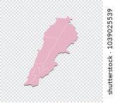 lebanon map   high detailed... | Shutterstock .eps vector #1039025539