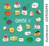 this is vector cheeses set. it... | Shutterstock .eps vector #1039030594