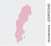 sweden map   high detailed... | Shutterstock .eps vector #1039031560