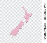 new zealand map   high detailed ... | Shutterstock .eps vector #1039032190