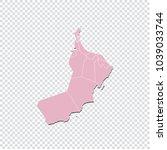 oman map   high detailed pastel ... | Shutterstock .eps vector #1039033744