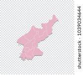north korea map   high detailed ... | Shutterstock .eps vector #1039034644