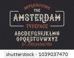 original handmade alphabet.... | Shutterstock .eps vector #1039037470