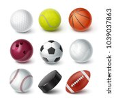 set of vector realistic popular ... | Shutterstock .eps vector #1039037863